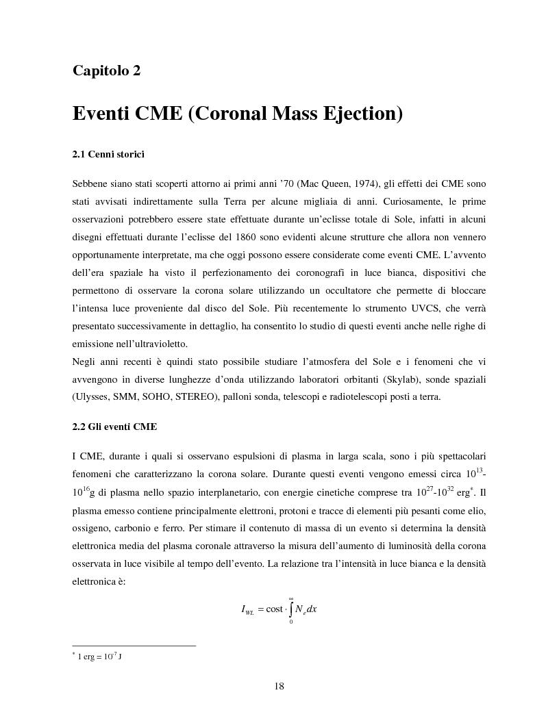 Anteprima della tesi: Studio di eventi di espulsioni di massa coronale, Pagina 7