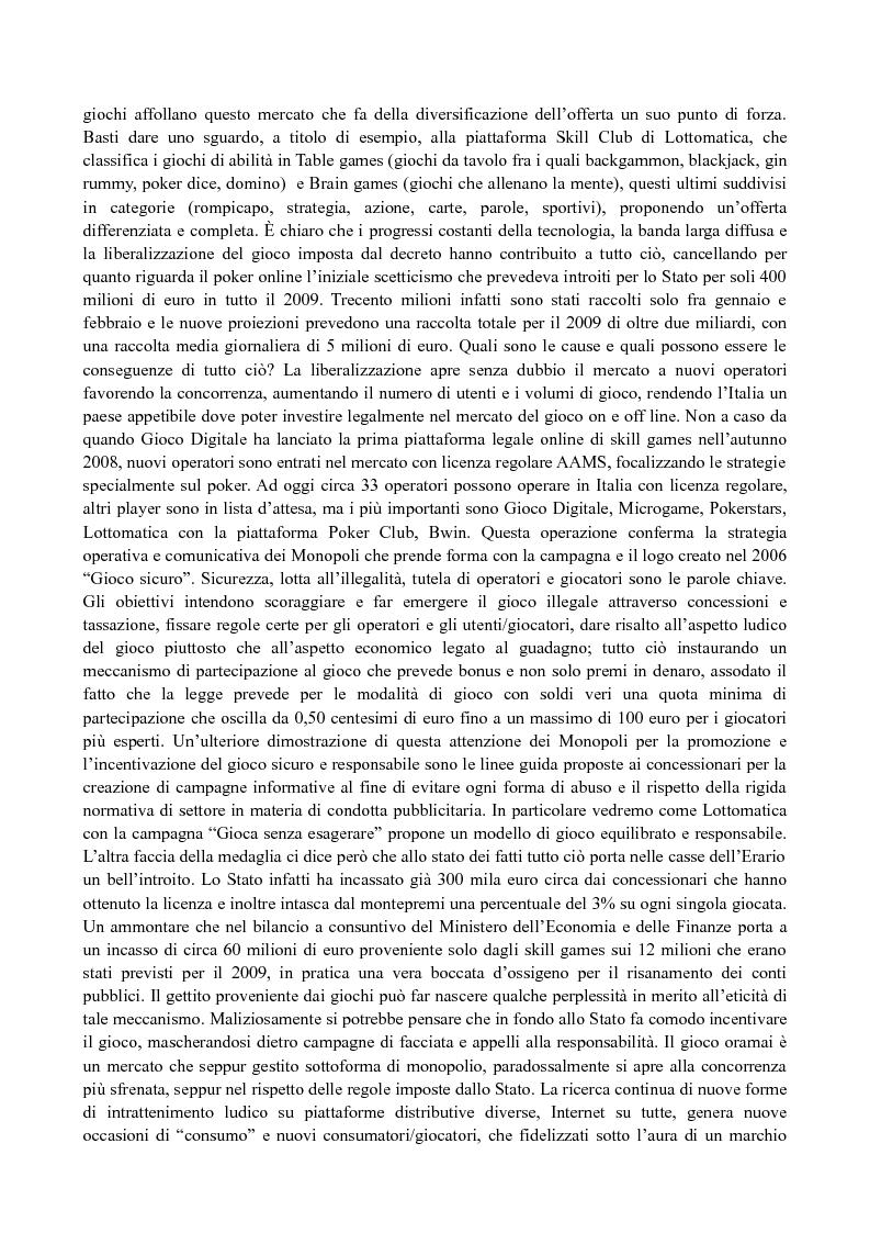 Anteprima della tesi: Il media planning nel mercato dei giochi di abilità a distanza: il fenomeno del poker online, Pagina 2