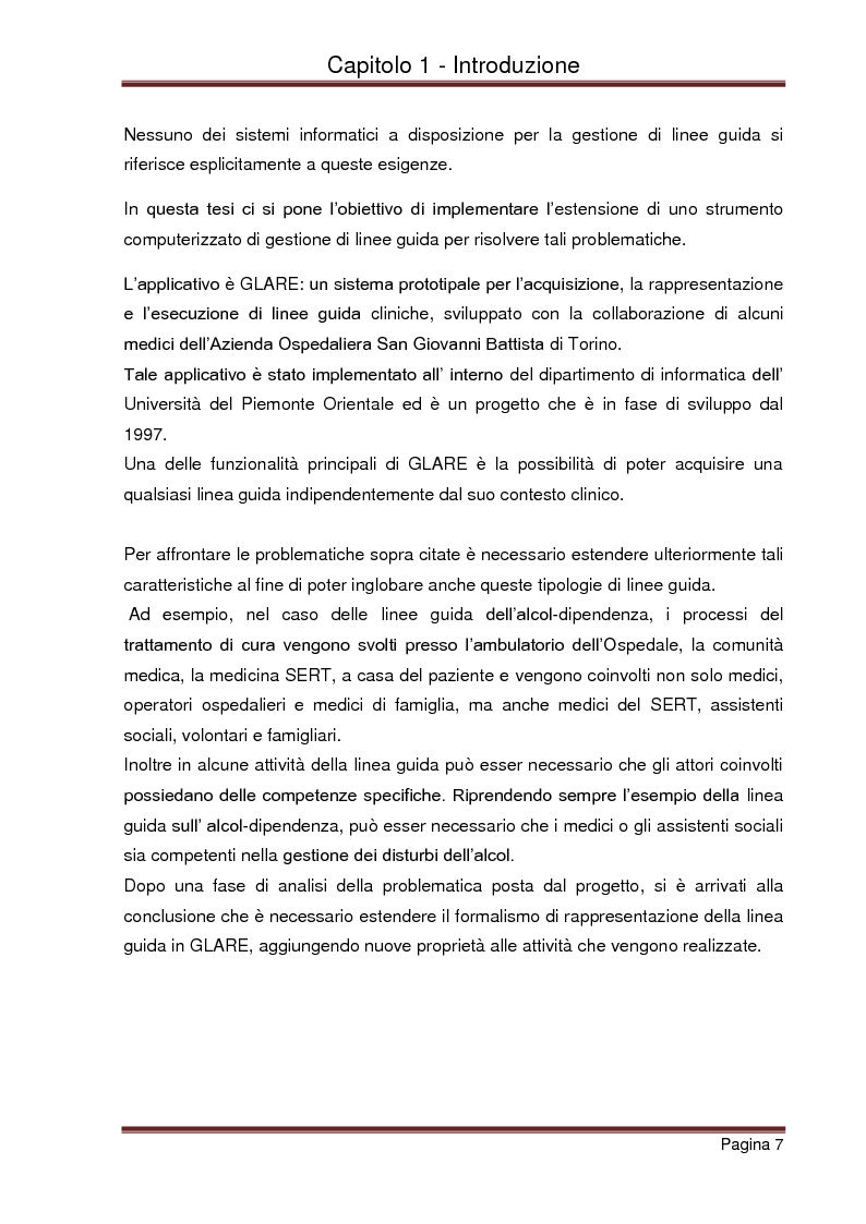 Anteprima della tesi: Strumenti automatizzati per la focalizzazione di linee guida cliniche per tipologie di agenti, Pagina 3