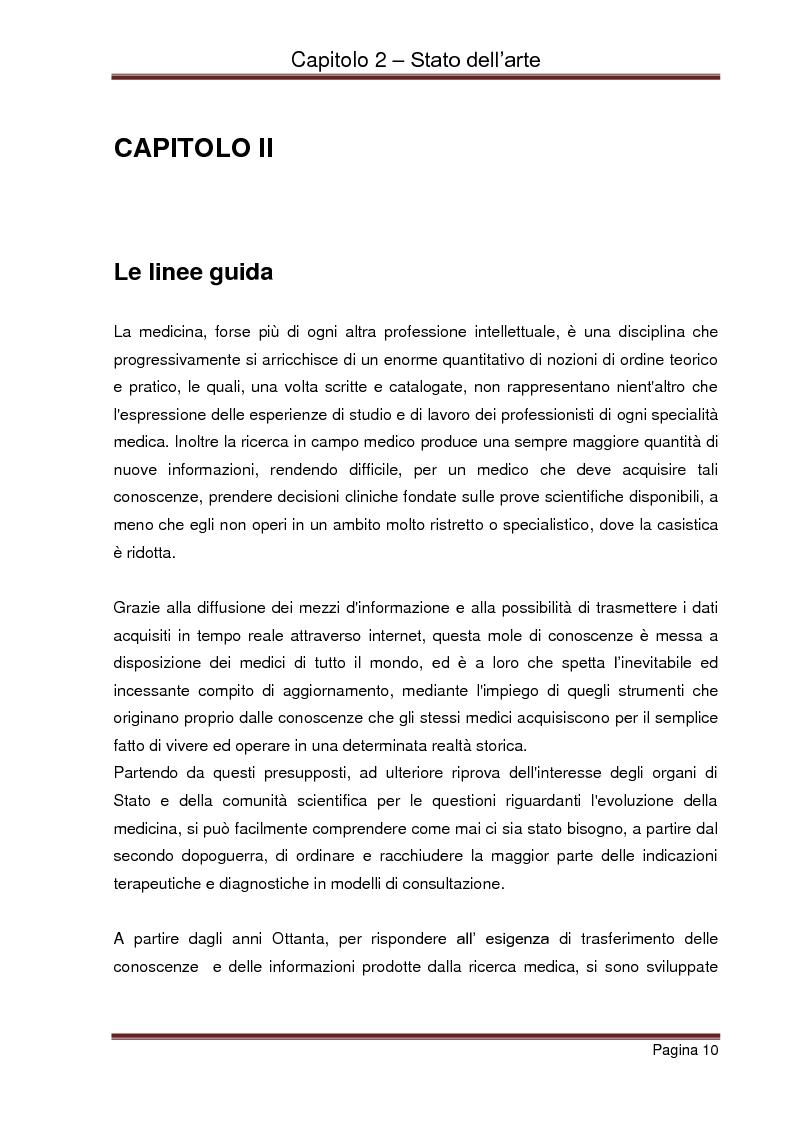 Anteprima della tesi: Strumenti automatizzati per la focalizzazione di linee guida cliniche per tipologie di agenti, Pagina 6