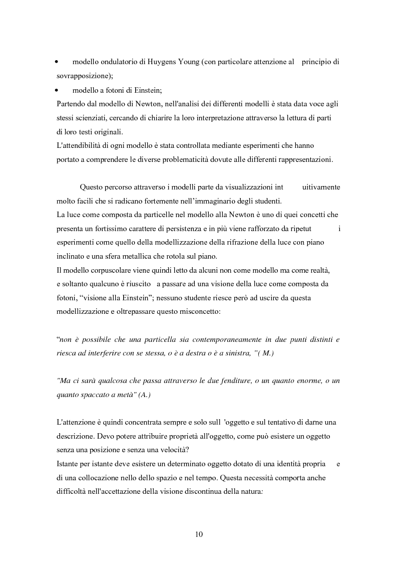 Anteprima della tesi: Un progetto di insegnamento della meccanica quantistica a livello di scuola secondaria superiore: alla ricerca di un formalismo possibile, Pagina 10