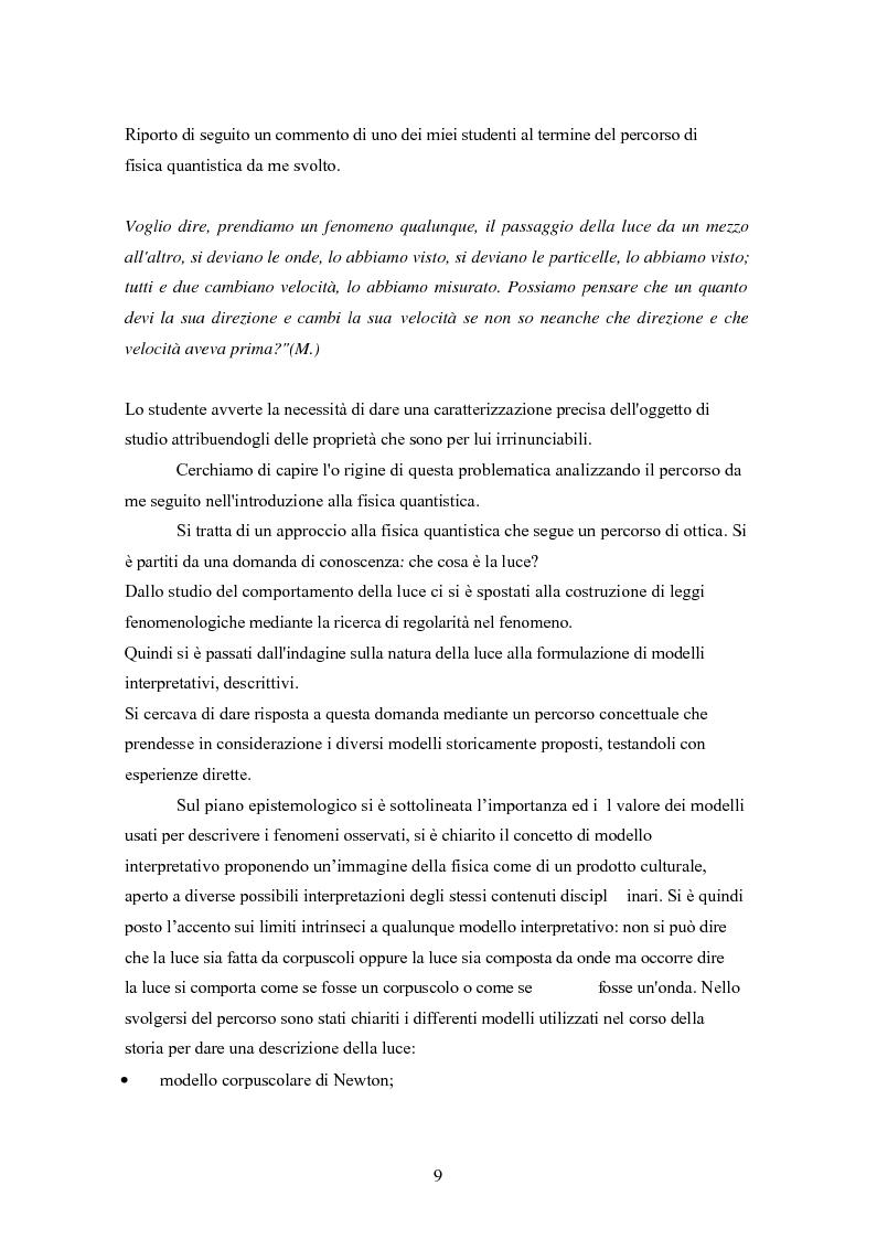 Anteprima della tesi: Un progetto di insegnamento della meccanica quantistica a livello di scuola secondaria superiore: alla ricerca di un formalismo possibile, Pagina 9