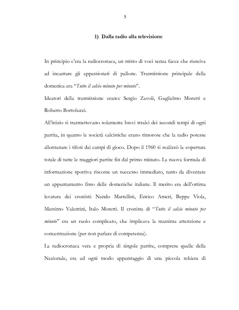 Anteprima della tesi: Il calcio e la televisione, Pagina 2