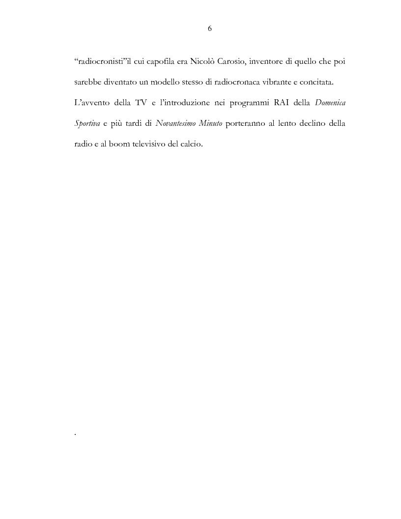 Anteprima della tesi: Il calcio e la televisione, Pagina 3
