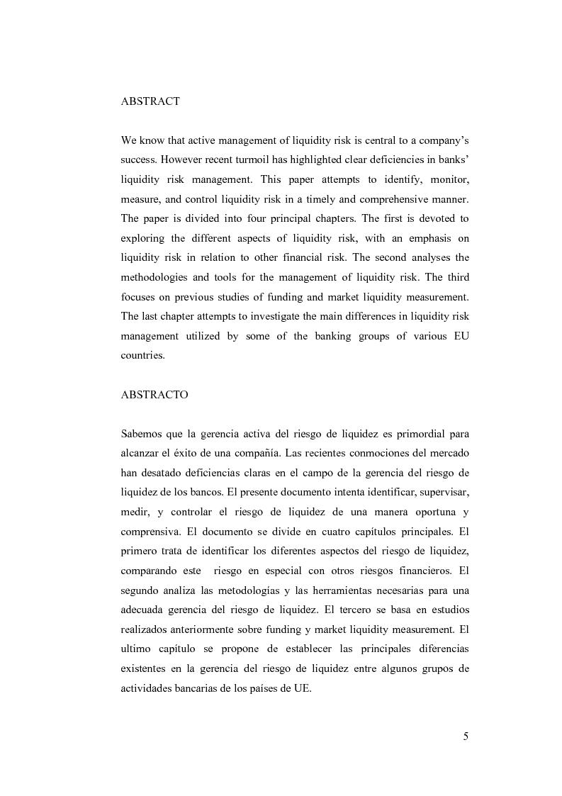 Anteprima della tesi: Liquidity Risk Management: teorie ed applicazioni, Pagina 1