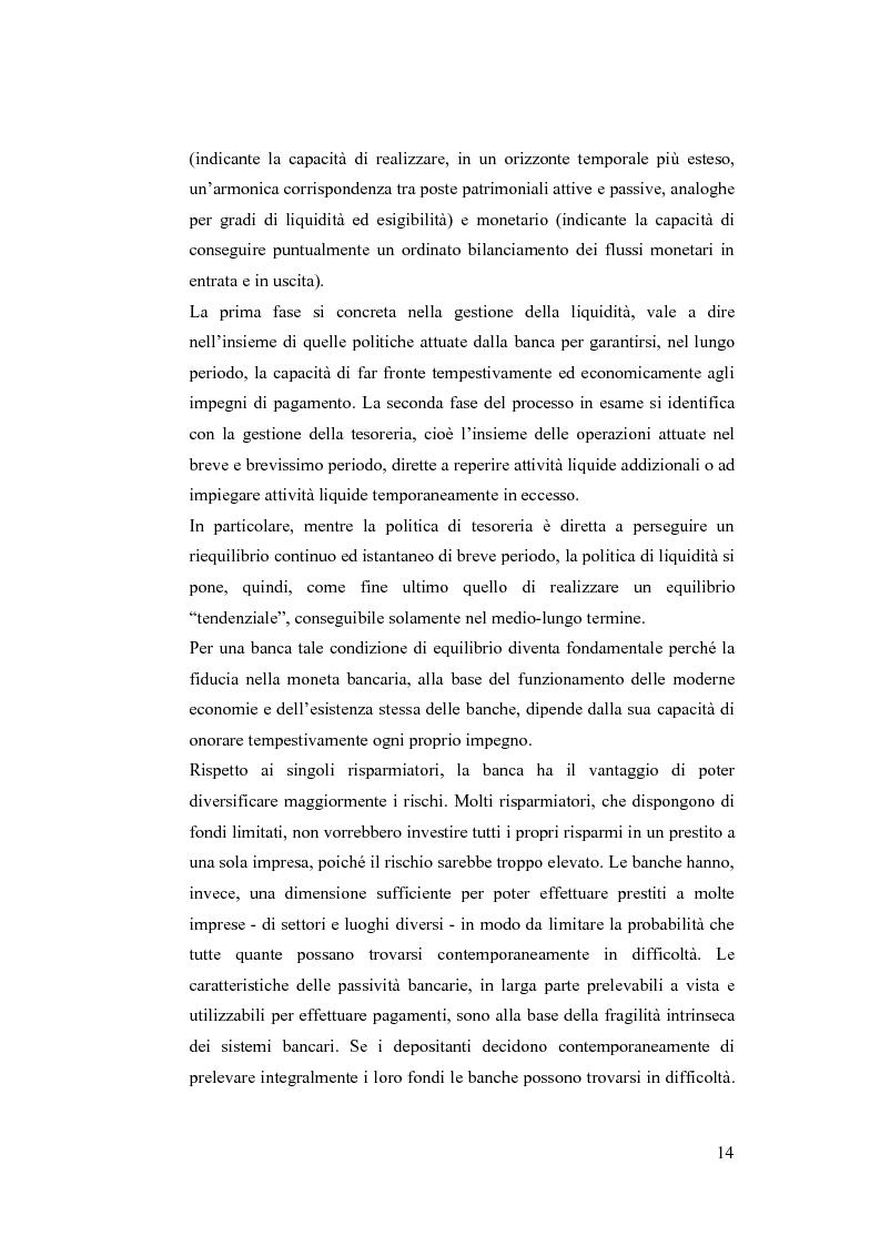 Anteprima della tesi: Liquidity Risk Management: teorie ed applicazioni, Pagina 10