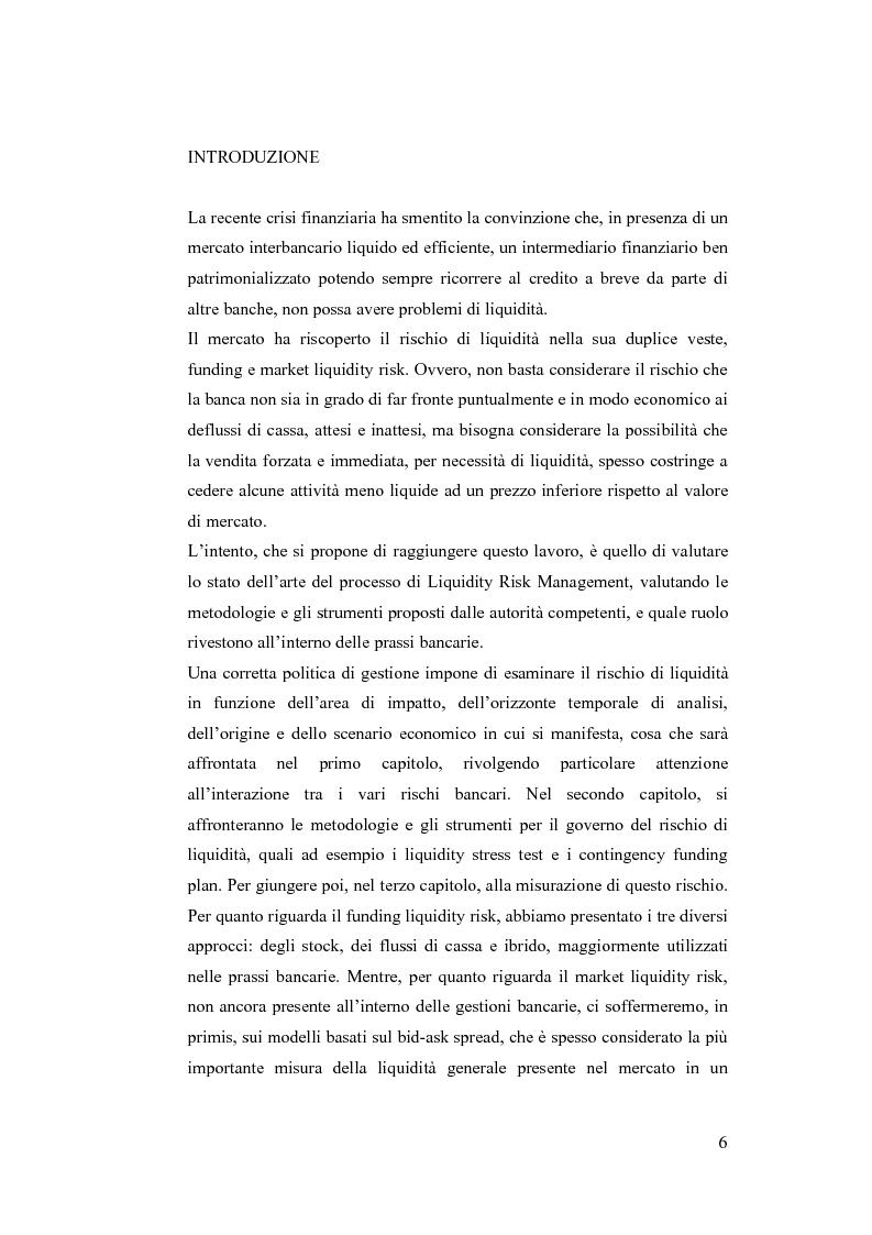 Anteprima della tesi: Liquidity Risk Management: teorie ed applicazioni, Pagina 2
