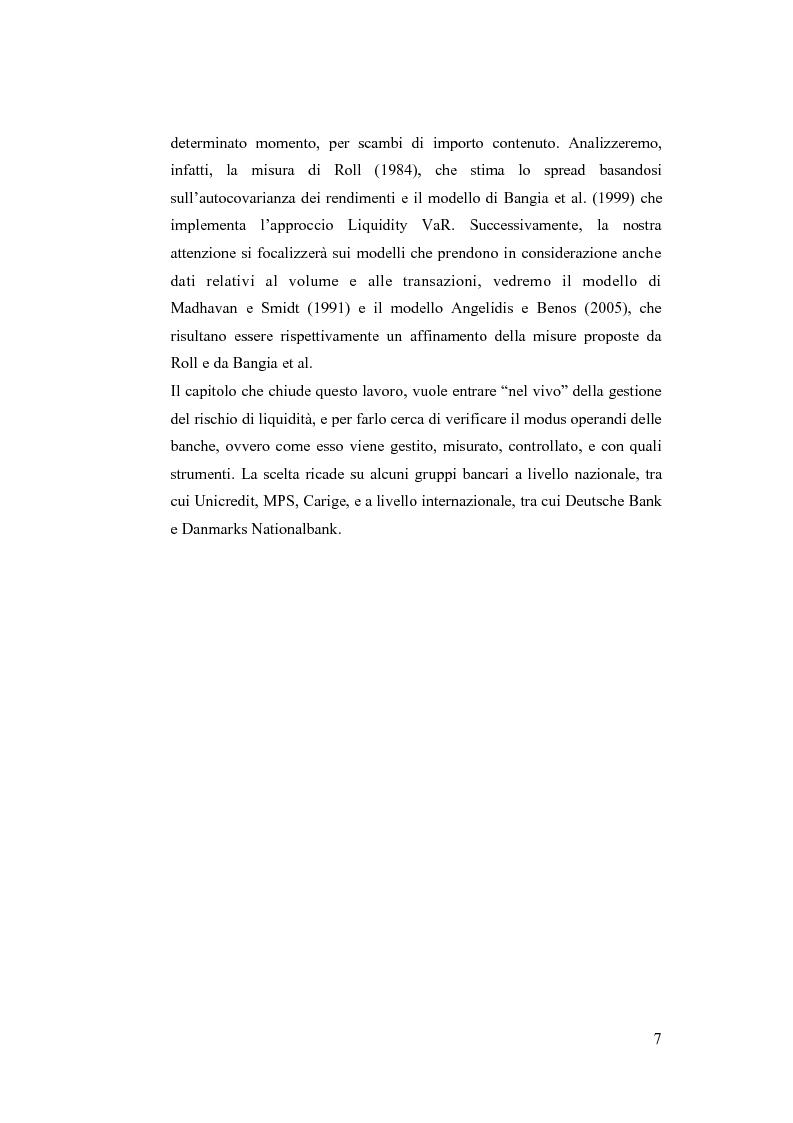 Anteprima della tesi: Liquidity Risk Management: teorie ed applicazioni, Pagina 3