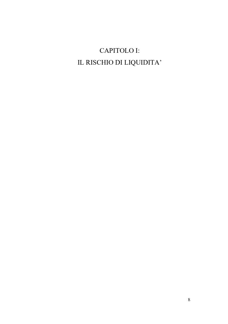 Anteprima della tesi: Liquidity Risk Management: teorie ed applicazioni, Pagina 4