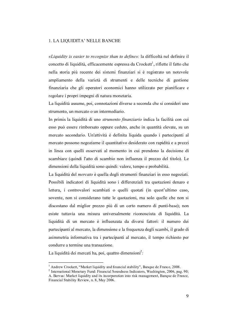 Anteprima della tesi: Liquidity Risk Management: teorie ed applicazioni, Pagina 5