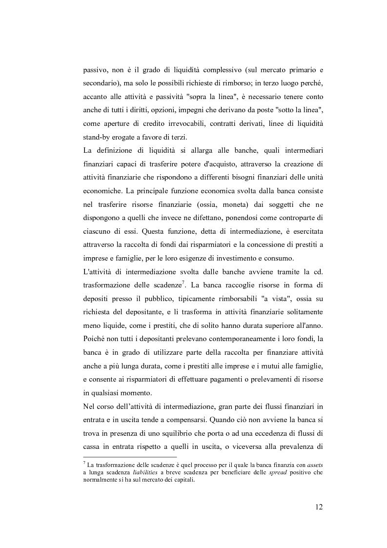 Anteprima della tesi: Liquidity Risk Management: teorie ed applicazioni, Pagina 8