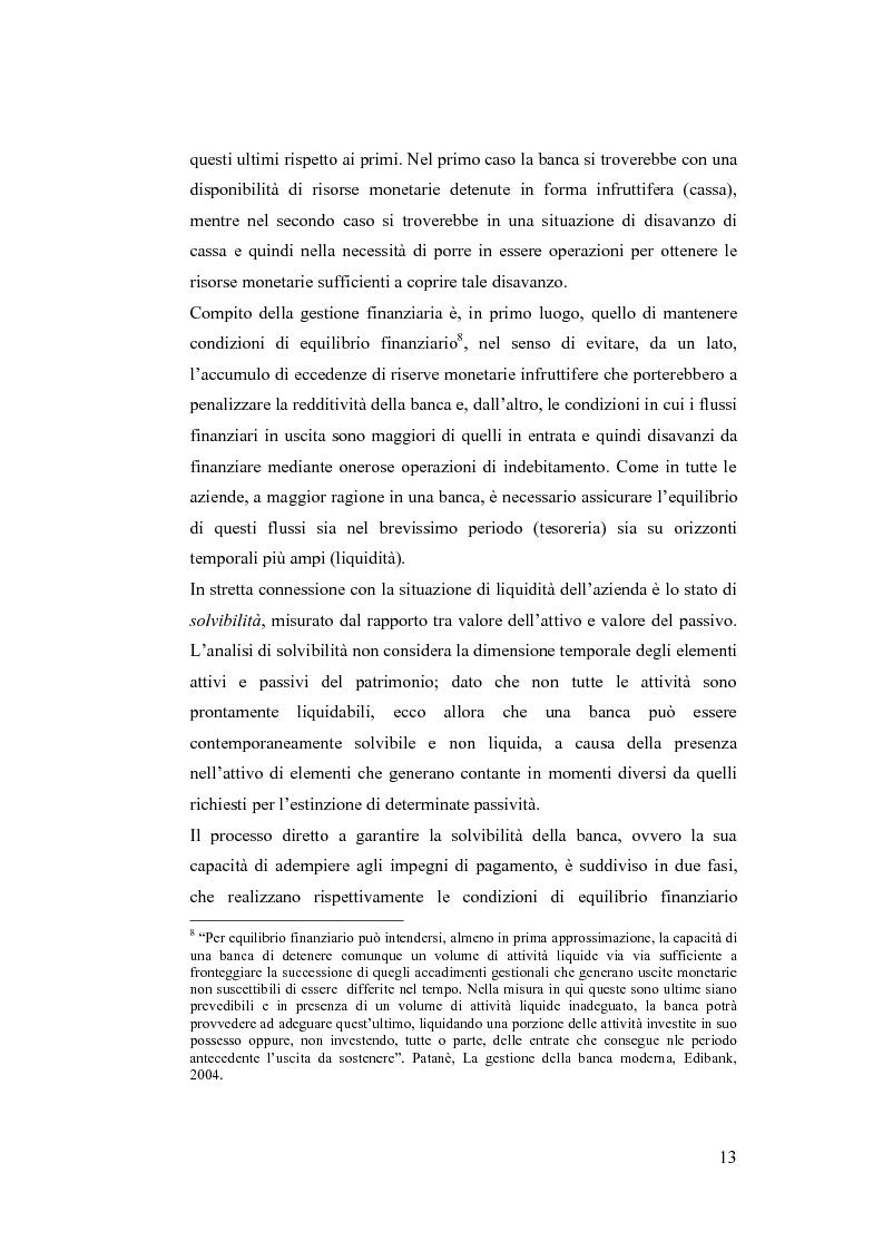 Anteprima della tesi: Liquidity Risk Management: teorie ed applicazioni, Pagina 9