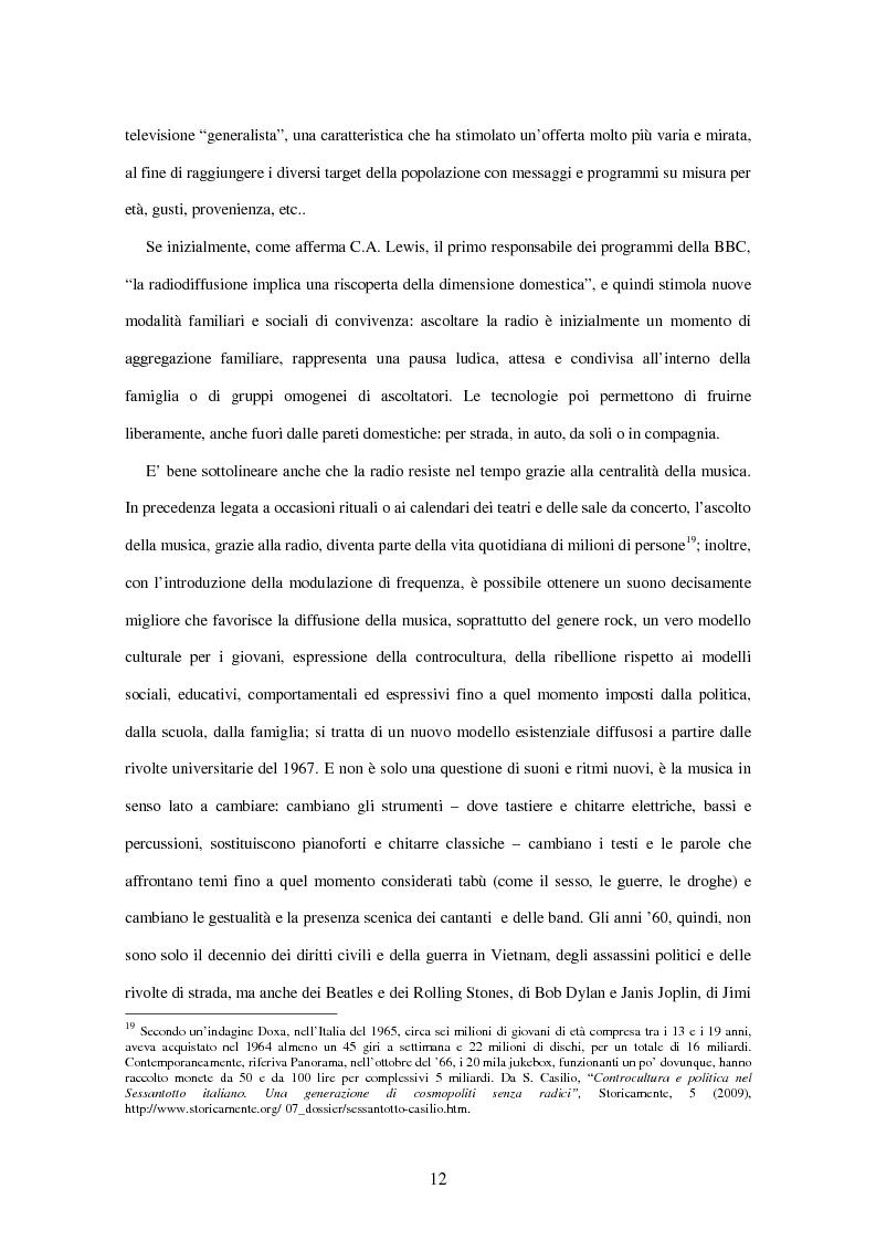 Anteprima della tesi: Radio Deejay, R101 e Radio 24 - A confronto tre strategie di successo nel panorama radiofonico nazionale, Pagina 10