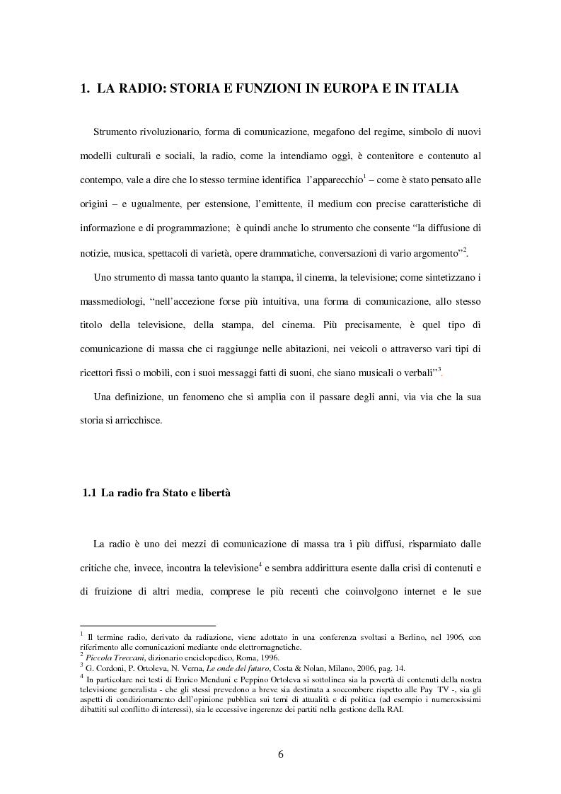 Anteprima della tesi: Radio Deejay, R101 e Radio 24 - A confronto tre strategie di successo nel panorama radiofonico nazionale, Pagina 4
