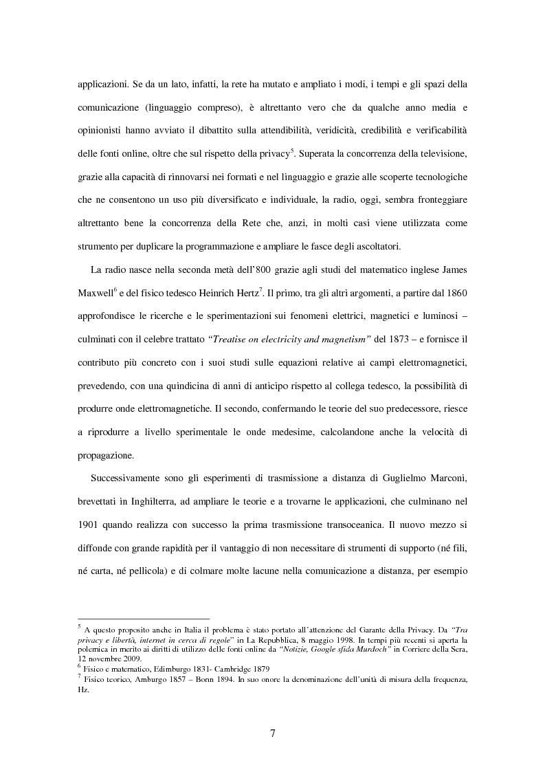 Anteprima della tesi: Radio Deejay, R101 e Radio 24 - A confronto tre strategie di successo nel panorama radiofonico nazionale, Pagina 5