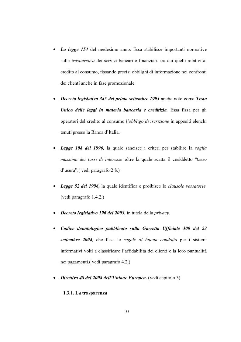 Anteprima della tesi: Il sovraindebitamento del consumatore e la protezione della nuova normativa europea, Pagina 10