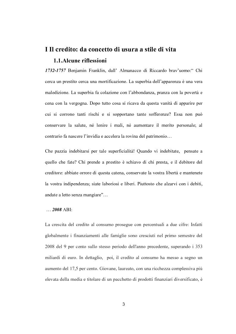 Anteprima della tesi: Il sovraindebitamento del consumatore e la protezione della nuova normativa europea, Pagina 3