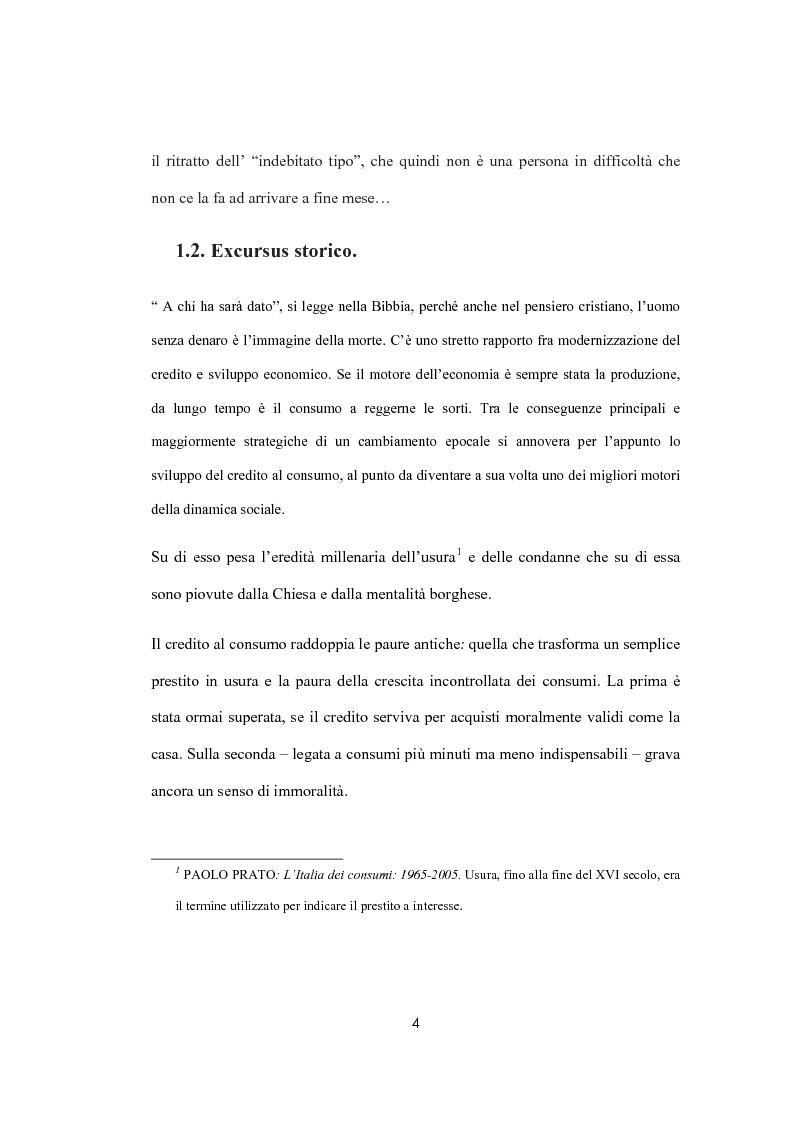 Anteprima della tesi: Il sovraindebitamento del consumatore e la protezione della nuova normativa europea, Pagina 4