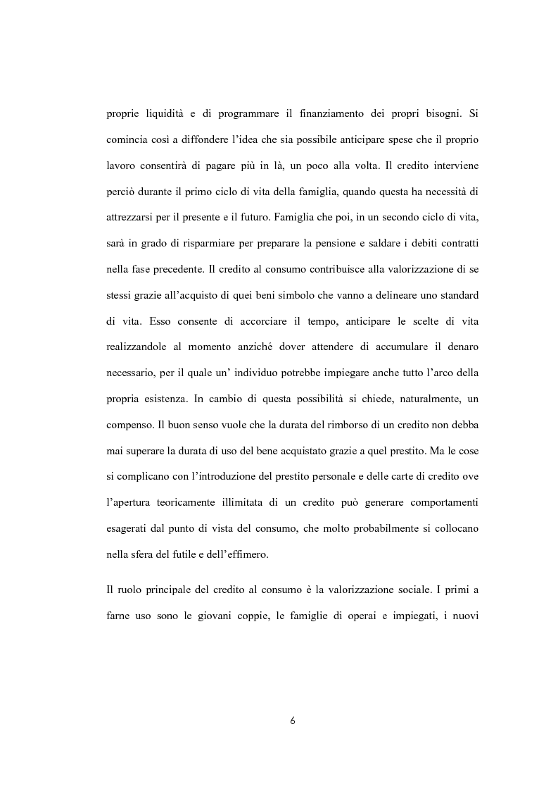 Anteprima della tesi: Il sovraindebitamento del consumatore e la protezione della nuova normativa europea, Pagina 6