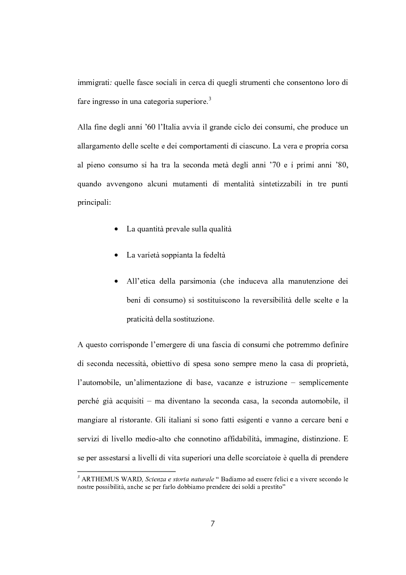 Anteprima della tesi: Il sovraindebitamento del consumatore e la protezione della nuova normativa europea, Pagina 7