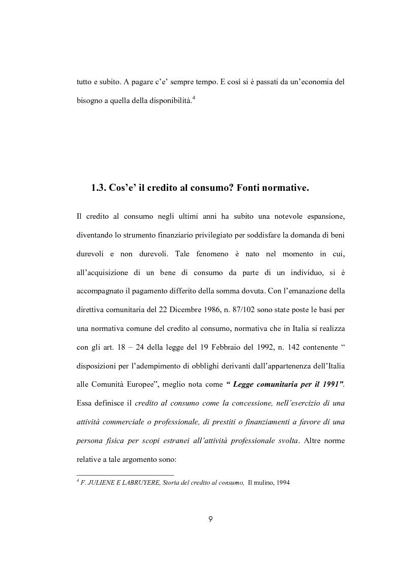 Anteprima della tesi: Il sovraindebitamento del consumatore e la protezione della nuova normativa europea, Pagina 9