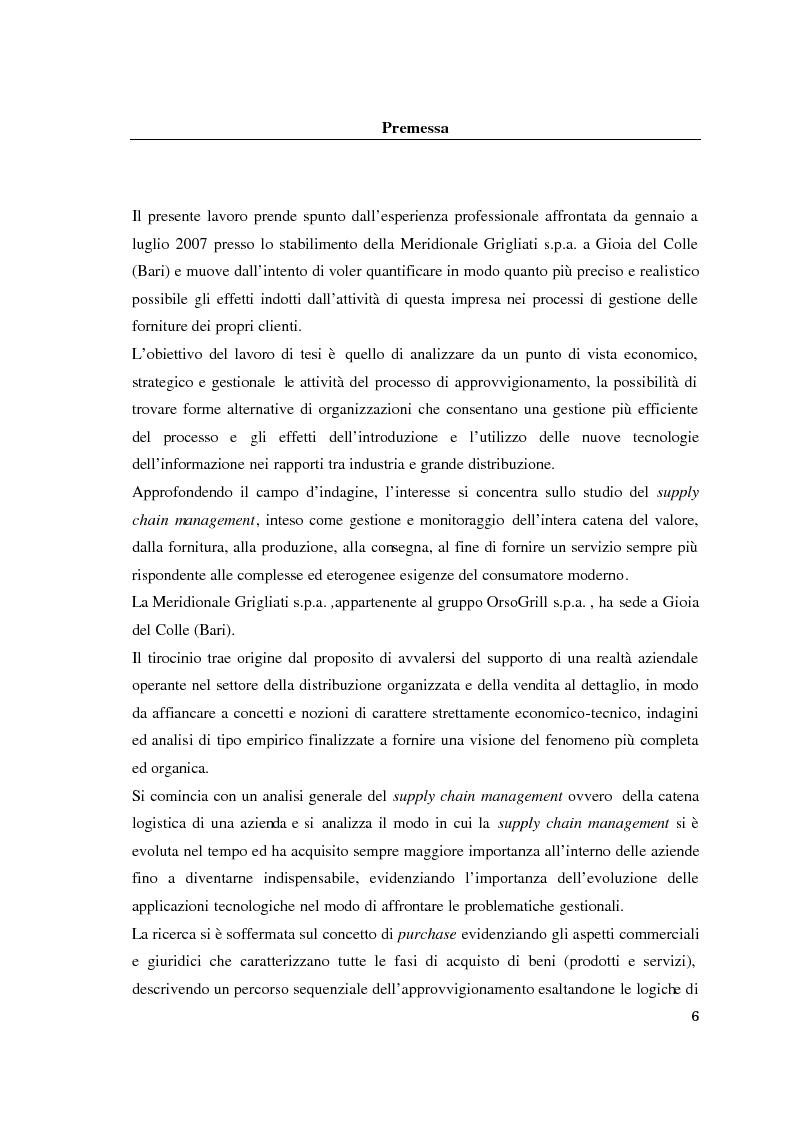 Anteprima della tesi: Supply chain management. Il caso Meridionale Grigliati s.p.a., Pagina 1