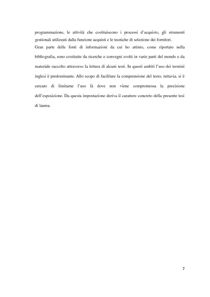 Anteprima della tesi: Supply chain management. Il caso Meridionale Grigliati s.p.a., Pagina 2