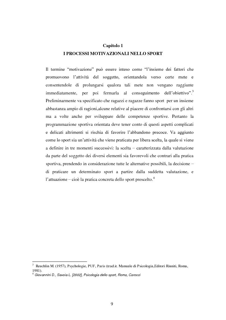 Anteprima della tesi: I presupposti motivazionali del giocatore di rugby: dall'attività giovanile all'alto livello, Pagina 1
