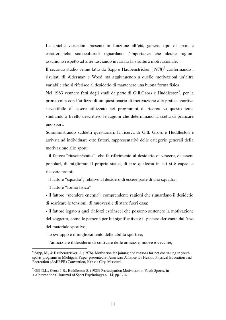 Anteprima della tesi: I presupposti motivazionali del giocatore di rugby: dall'attività giovanile all'alto livello, Pagina 3