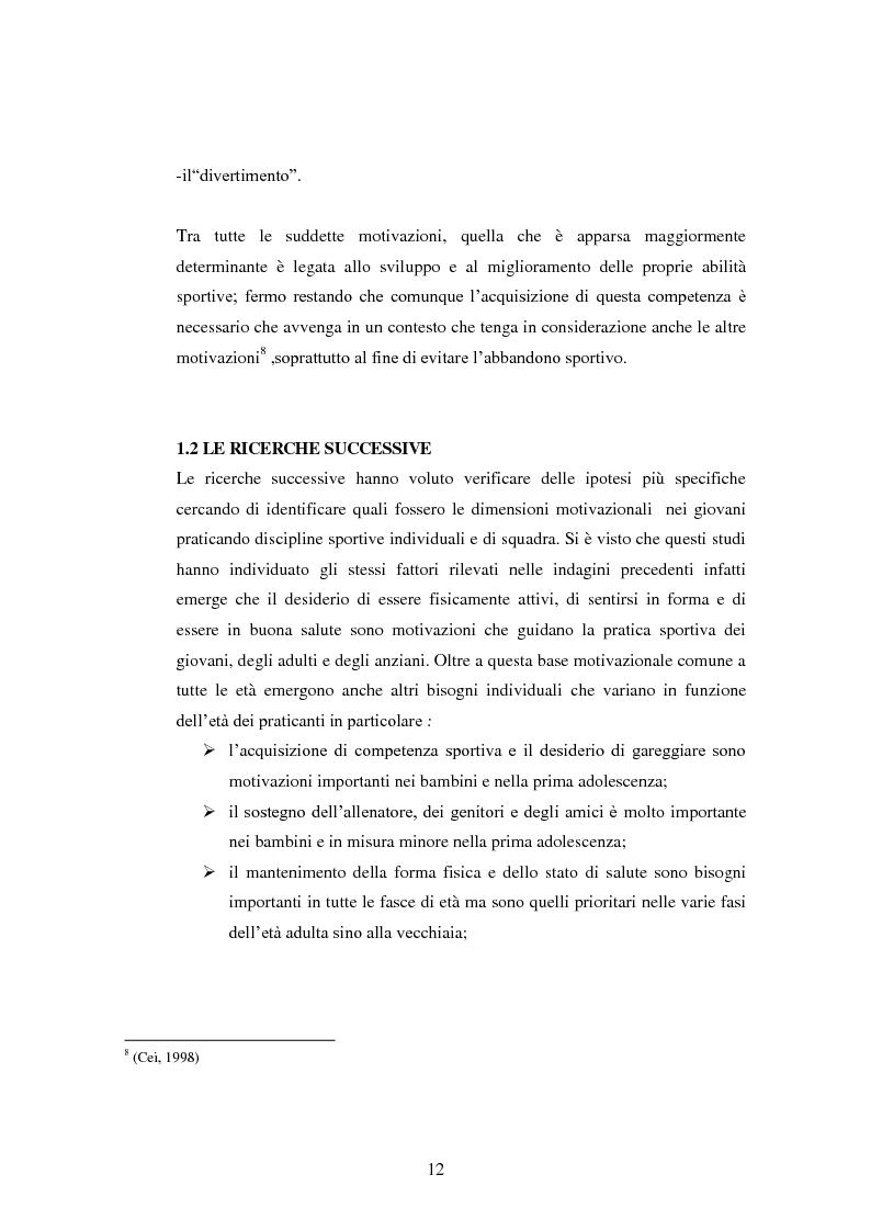 Anteprima della tesi: I presupposti motivazionali del giocatore di rugby: dall'attività giovanile all'alto livello, Pagina 4