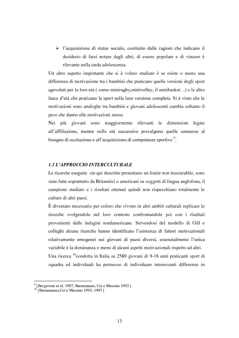 Anteprima della tesi: I presupposti motivazionali del giocatore di rugby: dall'attività giovanile all'alto livello, Pagina 5