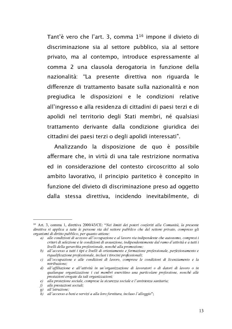 Anteprima della tesi: Diritto antidiscriminatorio: quadro normativo e problemi applicativi, Pagina 13