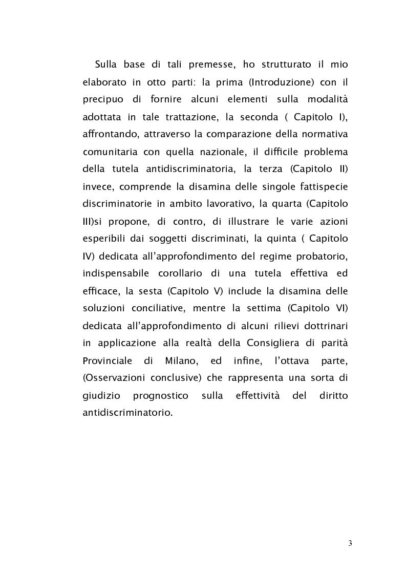 Anteprima della tesi: Diritto antidiscriminatorio: quadro normativo e problemi applicativi, Pagina 3