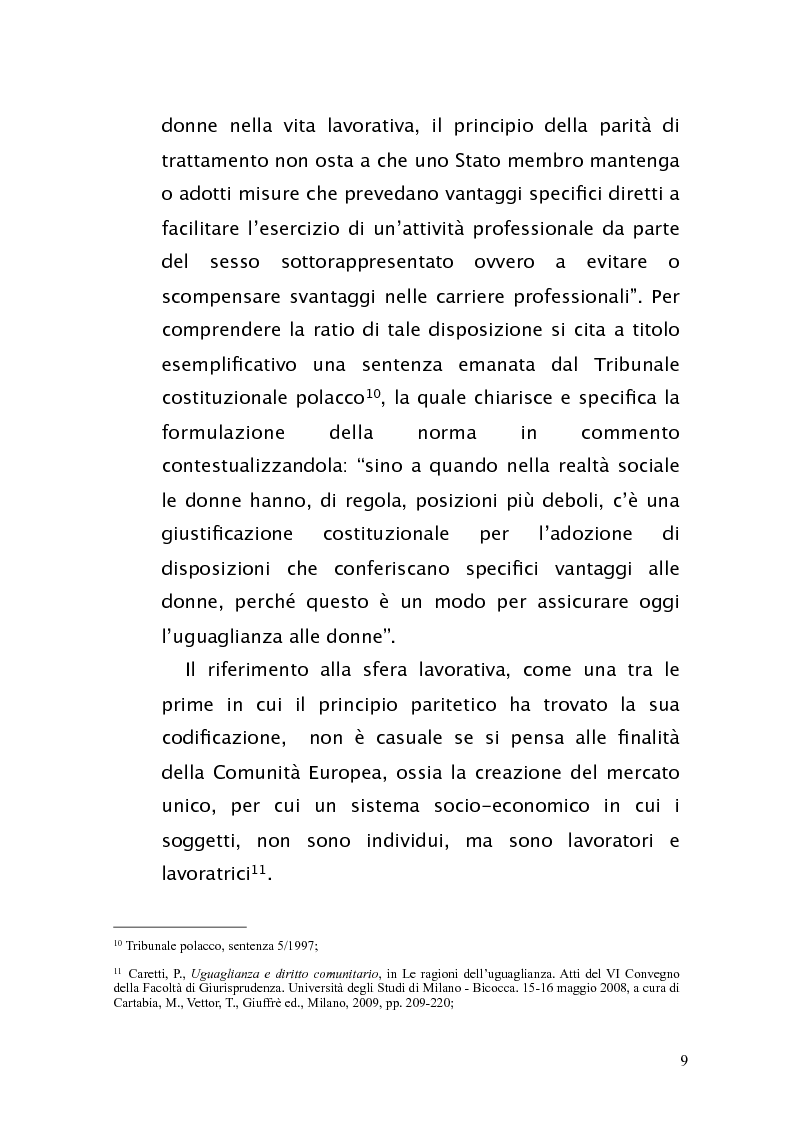 Anteprima della tesi: Diritto antidiscriminatorio: quadro normativo e problemi applicativi, Pagina 9