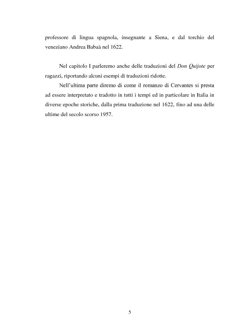 Anteprima della tesi: Don Quijote en Italia: traduzioni e riduzione (alcuni esempi), Pagina 2