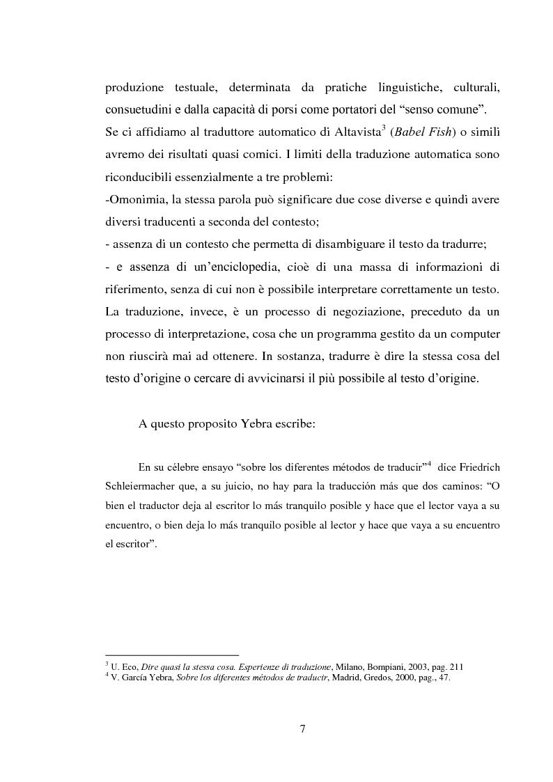 Anteprima della tesi: Don Quijote en Italia: traduzioni e riduzione (alcuni esempi), Pagina 4