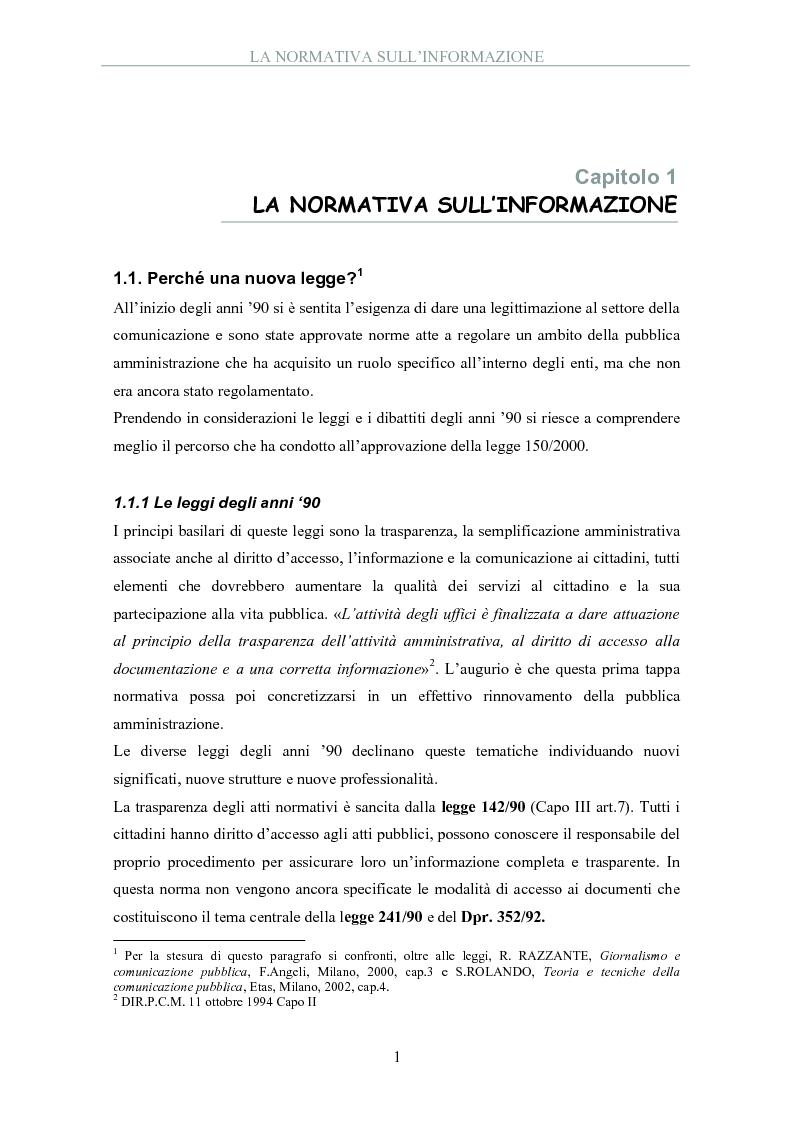 Anteprima della tesi: La pubblica amministrazione comunica: il ruolo dell'ufficio stampa, Pagina 3