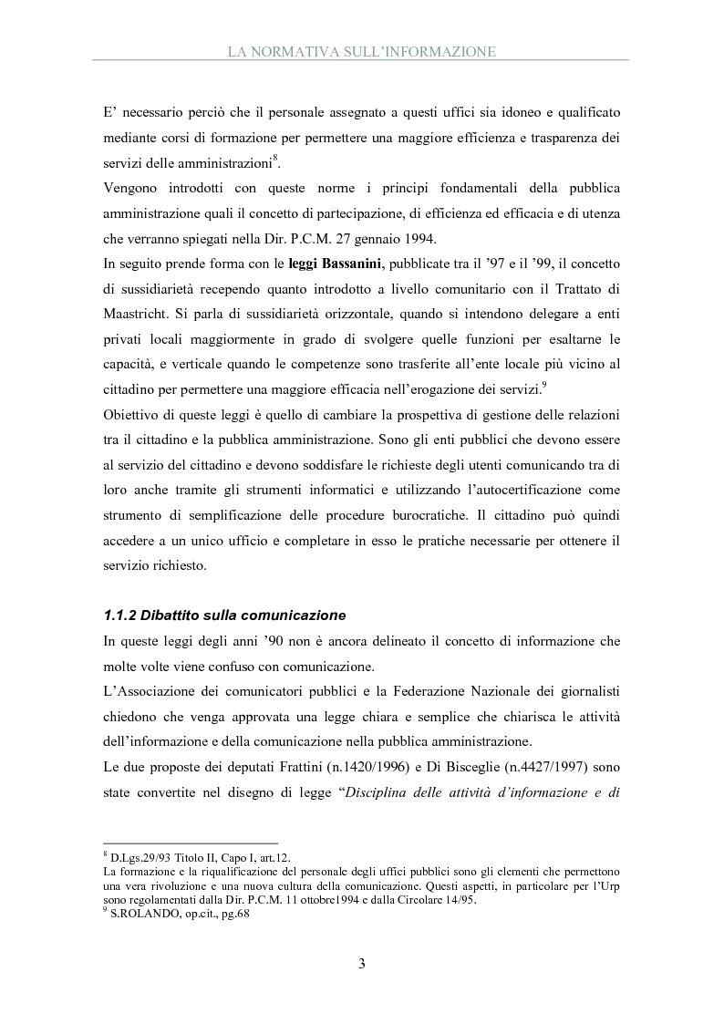 Anteprima della tesi: La pubblica amministrazione comunica: il ruolo dell'ufficio stampa, Pagina 5