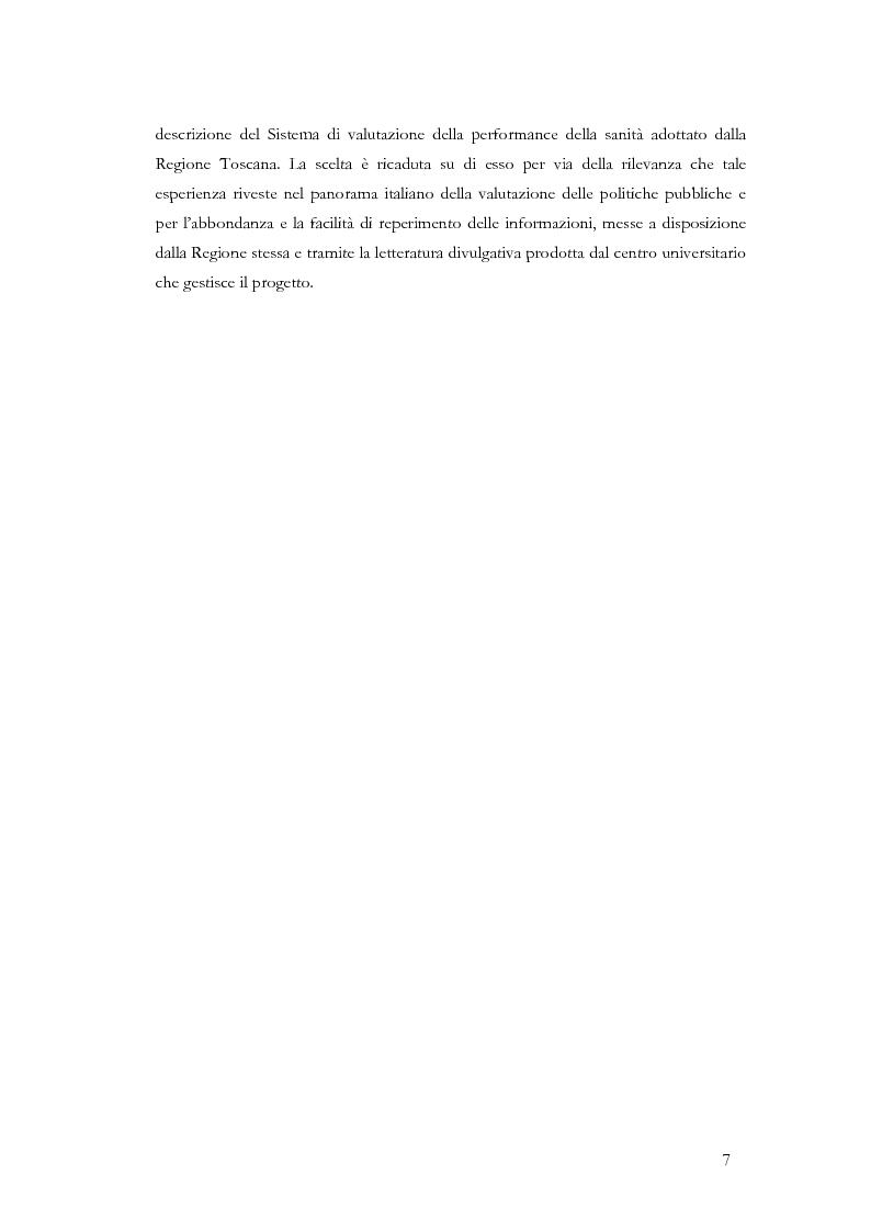Anteprima della tesi: La valutazione delle politiche sanitarie in Italia. Ricognizione delle pratiche in uso nel Servizio Sanitario Nazionale e delle esperienze regionali., Pagina 3