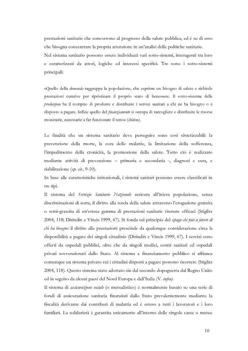 Anteprima della tesi: La valutazione delle politiche sanitarie in Italia. Ricognizione delle pratiche in uso nel Servizio Sanitario Nazionale e delle esperienze regionali., Pagina 6