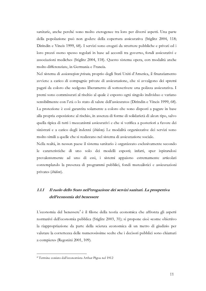 Anteprima della tesi: La valutazione delle politiche sanitarie in Italia. Ricognizione delle pratiche in uso nel Servizio Sanitario Nazionale e delle esperienze regionali., Pagina 7