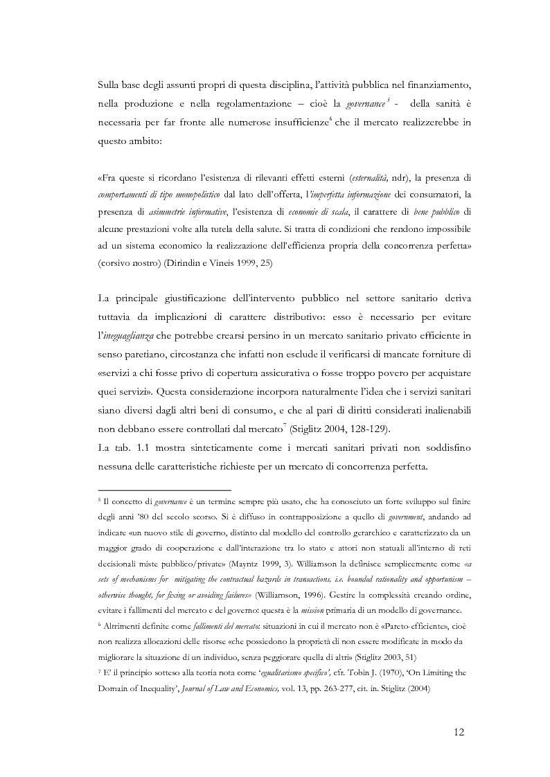 Anteprima della tesi: La valutazione delle politiche sanitarie in Italia. Ricognizione delle pratiche in uso nel Servizio Sanitario Nazionale e delle esperienze regionali., Pagina 8