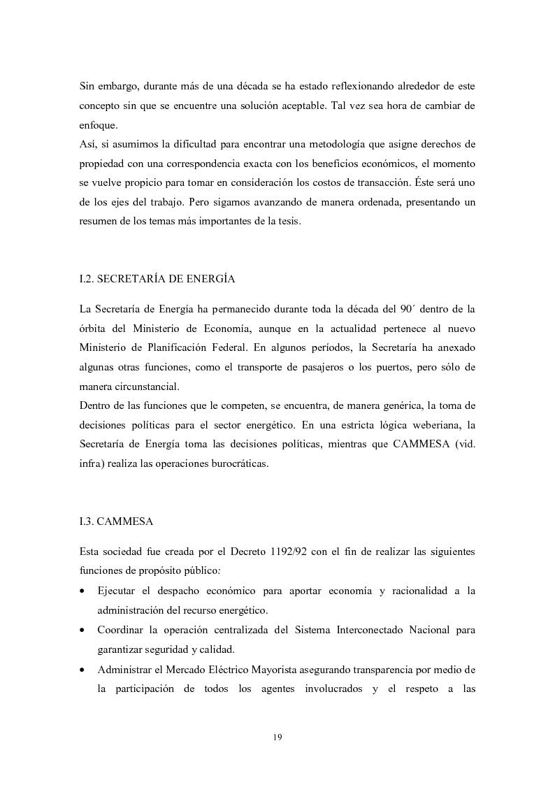 Anteprima della tesi: De granjeros, subastas y energìa - Asignación de derechos de propiedad sobre bienes de uso colectivo mediante subastas. El caso de la transmisión eléctrica en Argentina, Pagina 10