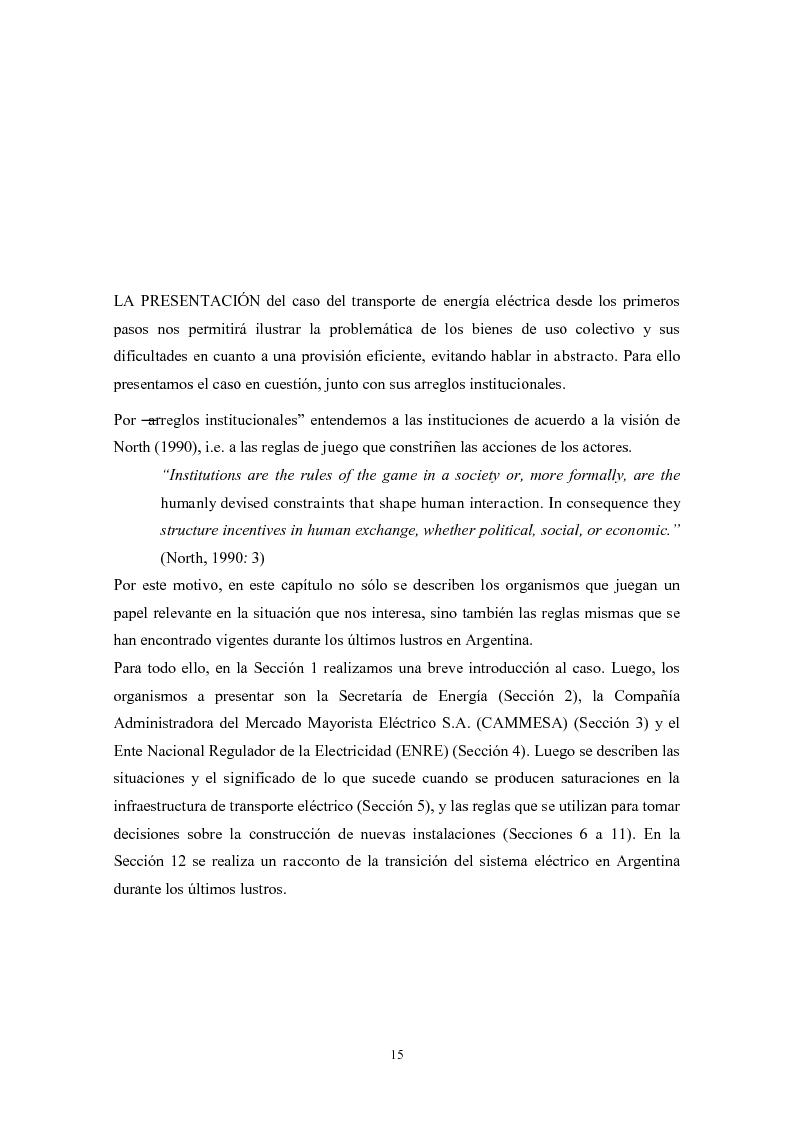 Anteprima della tesi: De granjeros, subastas y energìa - Asignación de derechos de propiedad sobre bienes de uso colectivo mediante subastas. El caso de la transmisión eléctrica en Argentina, Pagina 6