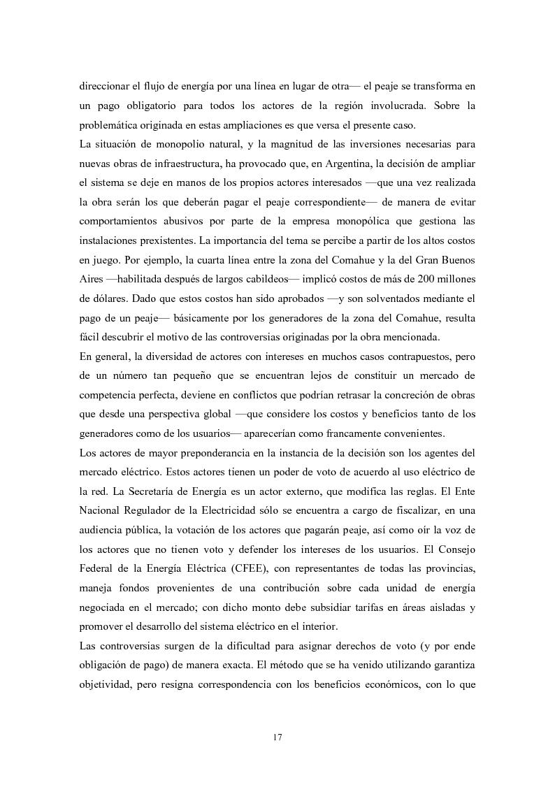 Anteprima della tesi: De granjeros, subastas y energìa - Asignación de derechos de propiedad sobre bienes de uso colectivo mediante subastas. El caso de la transmisión eléctrica en Argentina, Pagina 8