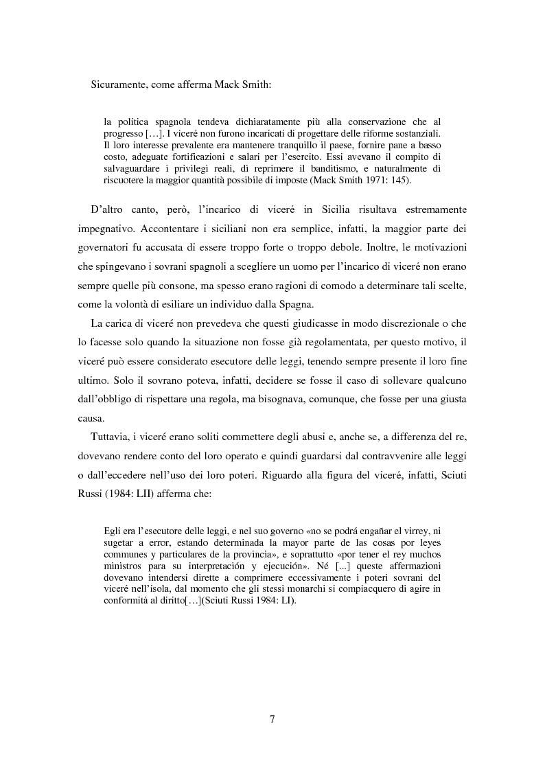 Anteprima della tesi: La dominazione spagnola in Sicilia: eredità linguistiche, Pagina 7