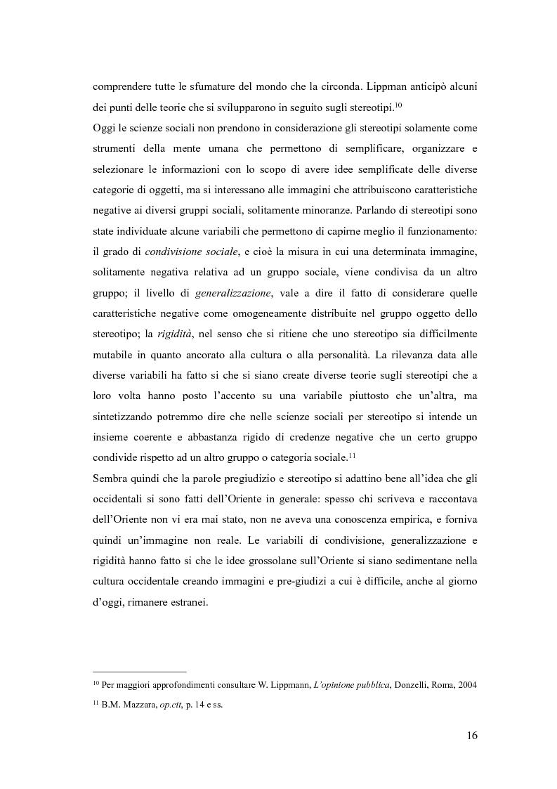 Anteprima della tesi: In viaggio con gli stereotipi. Il Medio Oriente tra realtà e fantasia, Pagina 11