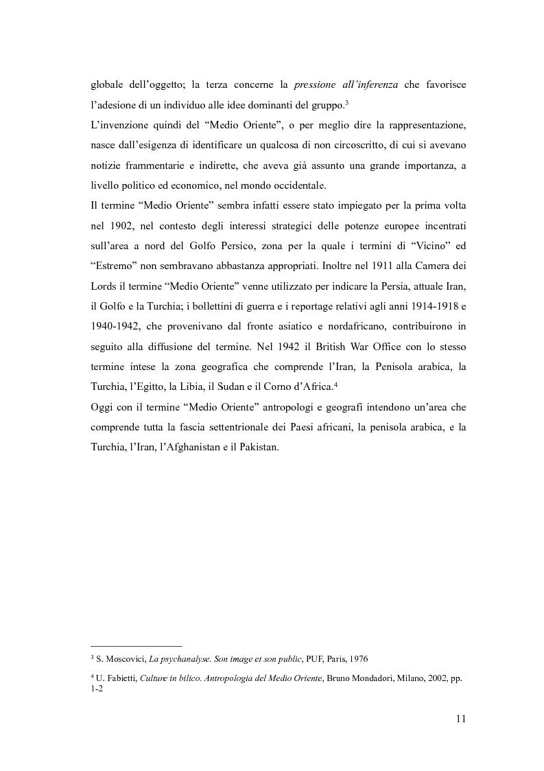 Anteprima della tesi: In viaggio con gli stereotipi. Il Medio Oriente tra realtà e fantasia, Pagina 6