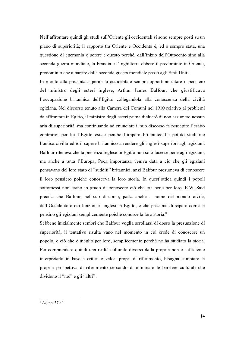 Anteprima della tesi: In viaggio con gli stereotipi. Il Medio Oriente tra realtà e fantasia, Pagina 9
