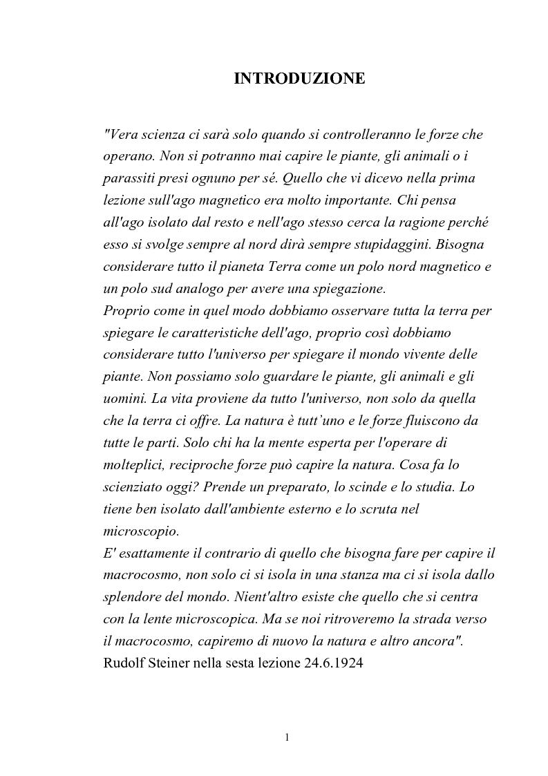 Anteprima della tesi: Comparazione tra sistemi agricoli: biodinamico, biologico, integrato, Pagina 1